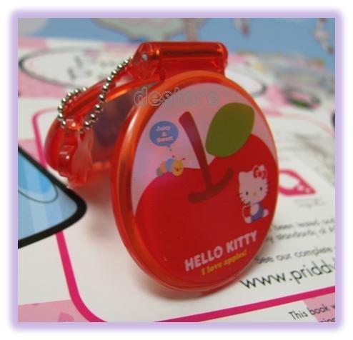 有樂町進口食品 日本 Hello Kitty 娃娃鏡子 手機掛飾鑰匙圈3 號 - 限時優惠好康折扣