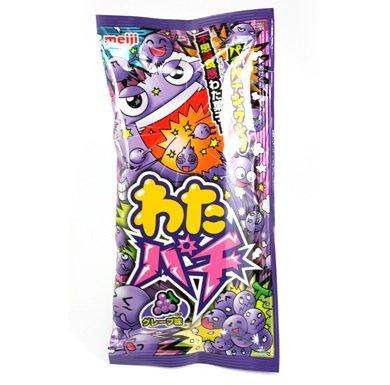 有樂町進口食品 日本明治棉花跳跳糖-葡萄口味 棉花糖 &跳跳糖 4902777074375