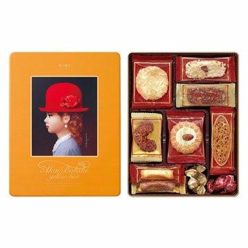 高帽子 TIVOLINA 黃帽禮盒 (206g)~精選10款暢銷餅乾 另付提袋
