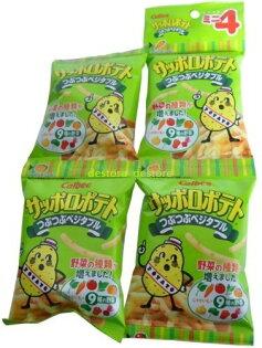 有樂町進口食品 日本 calbee卡樂比4連 薯條 蔬菜 洋芋條 J38 4901330122096