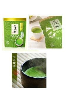 有樂町進口食品 日本 京都限定 辻利抹茶牛奶粉 200g 夾鏈袋包裝 片岡抹茶 抹茶歐蕾 4901305410197