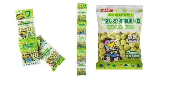 有樂町進口食品 日本前田 5連小粒巧虎蛋酥 ~野菜風味 (5包一串) 4901147303701