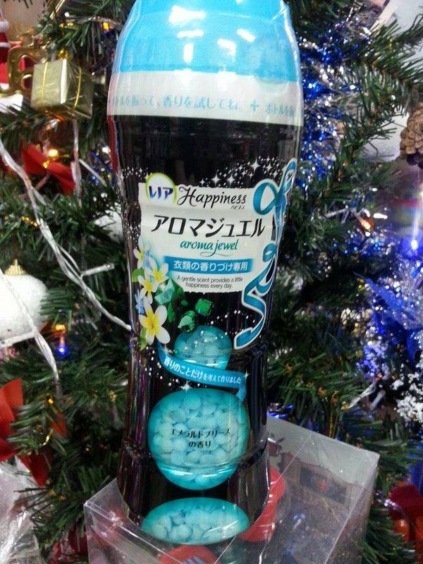 有樂町進口食品 日本 P&G 衣物芳香顆粒 衣物香香豆 翡翠微風香氣 0