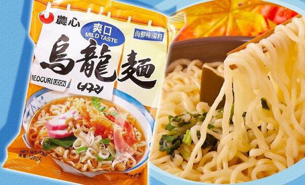有樂町進口食品 韓國泡麵 農心爽口微辣泡麵 浣熊麵昆布海鮮味 031146150205