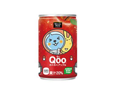 有樂町進口食品 日本 Qoo 酷果汁160cc/罐 蘋果口味 4902102100267 - 限時優惠好康折扣