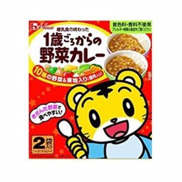 有樂町進口食品 日本原裝 house 巧虎1歲野菜豚肉咖哩 50g*2 4902402851593