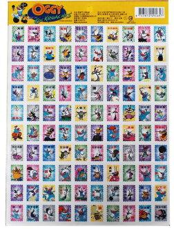 百格郵票貼紙-肥貓鬥小強 貼紙