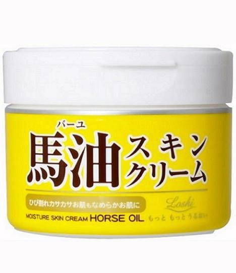 有樂町進口食品 日本 Loshi 馬油保濕乳霜 220g - 罐裝 馬油護膚乳液 北海道馬油 0