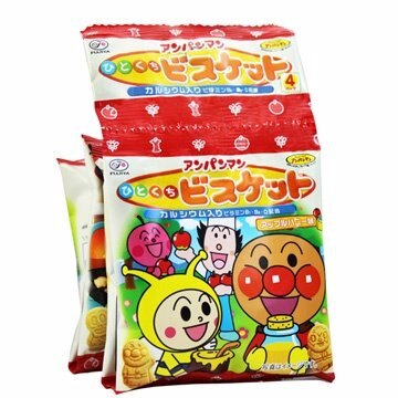 有樂町進口食品 日本 不二家麵包俠四連餅(80g) 麵包超人 1串4包 0