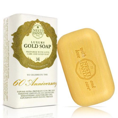 有樂町進口食品 Nesti Dante 義大利手工皂-60週年限量版黃金能量皂(250g) 0