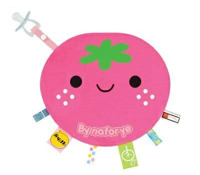 『121婦嬰用品館』拉孚兒 一手掌握布標安撫巾 - 草莓 0