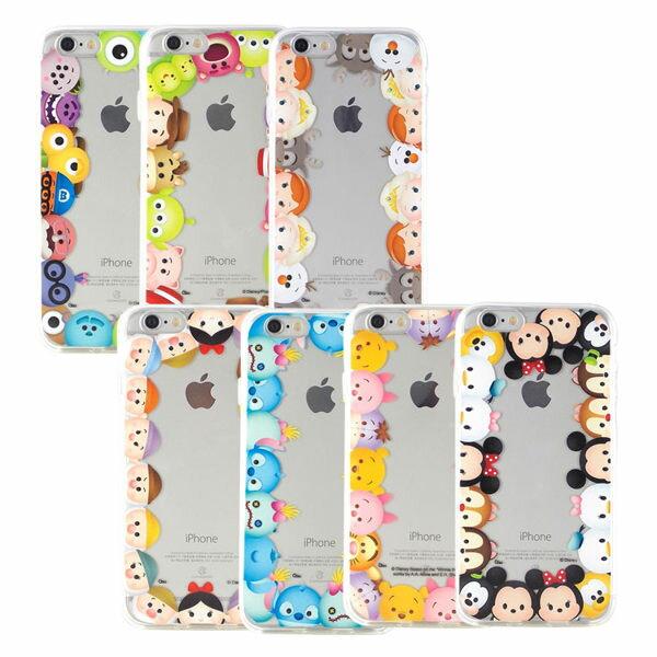 【Disney 】iPhone 6 Plus/6s Plus TSUM TSUM可愛透明保護軟套-繞圈圈