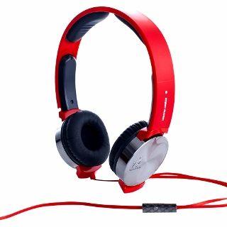 i2 VIBRATE 線控耳罩式耳機搖滾紅