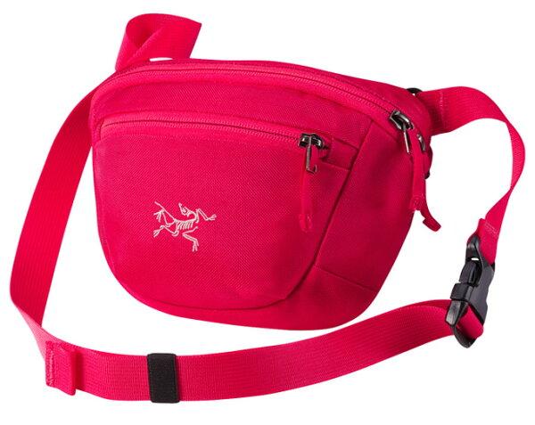 【鄉野情戶外專業】 ARCTERYX 始祖鳥  加拿大  MAKA 1 腰包/隨身包 旅行包 護照包 側背包-桃紅鬱金香/17171 【容量2L】