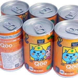 有樂町進口食品   日本 Qoo 酷果汁160cc *6罐 橘子口味 J30 4902102100168
