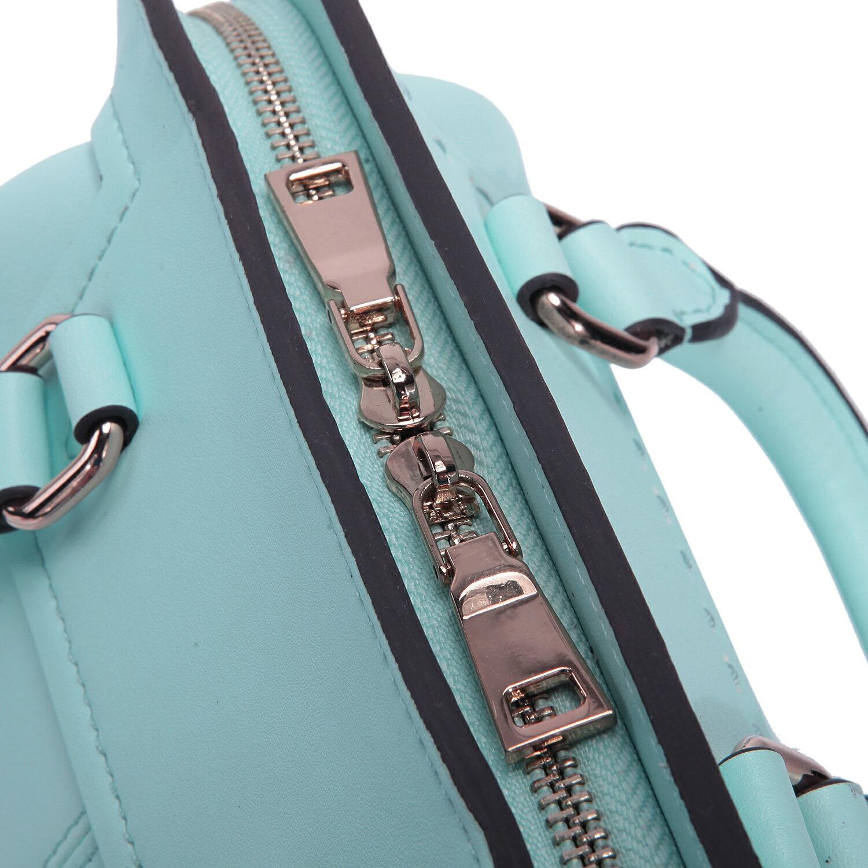 【BEIBAOBAO】繽紛馬卡龍真皮手提側背包(粉霧藍 共六色) 7
