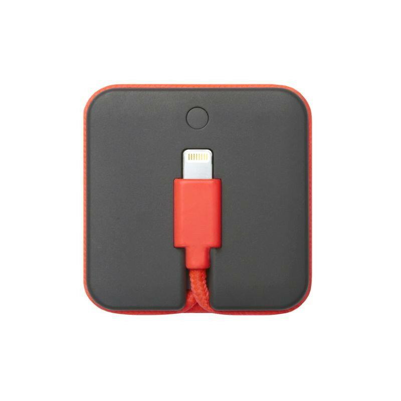蘋果MFi認證 Jump Cable 行動電源傳輸線Lightning - 珊瑚紅 - 限時優惠好康折扣