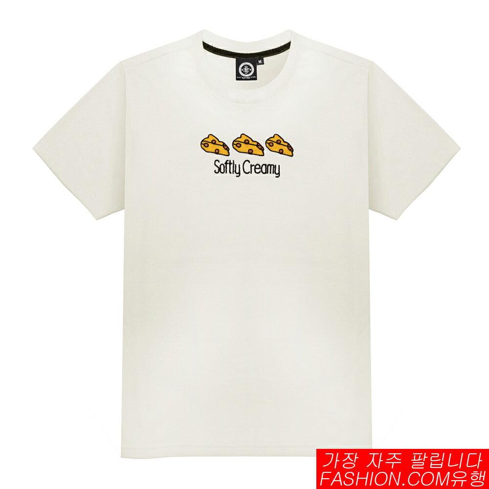DITION SHOP 雜誌款CHEESE老鼠乳酪電繡短T 潮流BANG 2