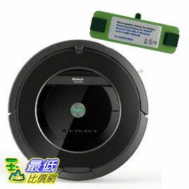 (鋰電版含虛擬塔一個無遙控器) iRobot Roomba 880 吸塵器送濾網六片邊刷3支防撞條清潔刷