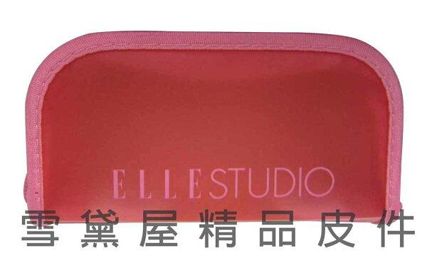 ~雪黛屋~ELLE 分類包化妝包萬用包進口PVC超輕輕透明材質EBFP-1000