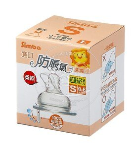 【迷你馬】Simba 小獅王辛巴 防脹氣寬口圓孔奶嘴-S(新生兒)、L(較大) S650X