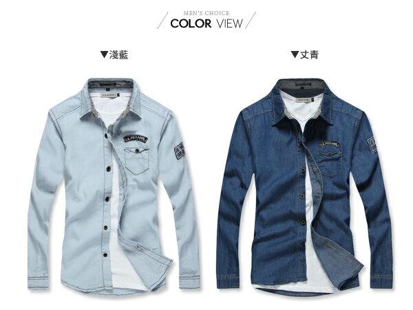 ☆BOY-2☆【NZ97001】韓版牛仔單寧長袖襯衫 1