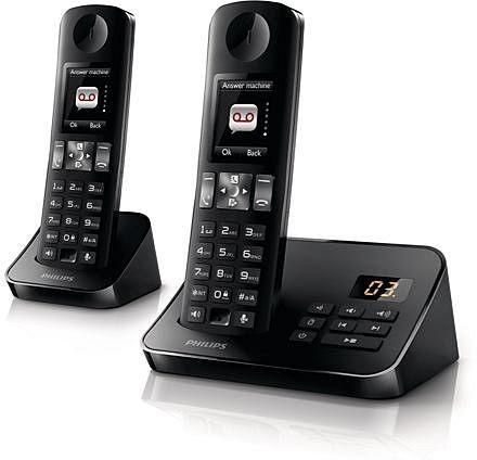 飛利浦全彩中文答錄數位雙子機無線電話D6052B / D6052✬