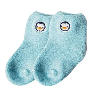 『121婦嬰用品館』PUKU 毛毛初生襪(0-12m) - 藍 0