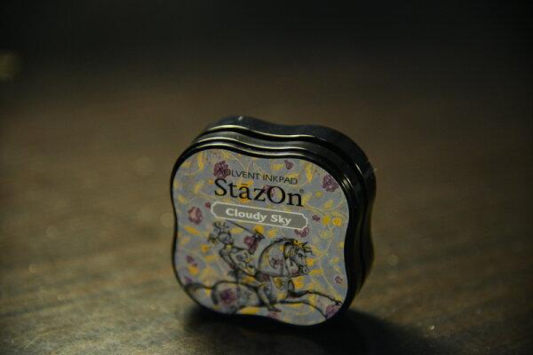 *小徑文化*日本手作雜貨 StazOn 染料系印台 ( midi系列 ) - Cloudy Sky ( SZM-34 )