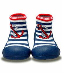 【本月特價$599】韓國【Attipas】快樂腳襪型學步鞋-水手深藍 0
