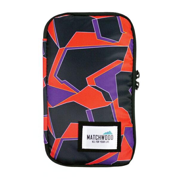 REMATCH - Matchwood Universal 護照包 紅色幾何迷彩款 護照夾 長夾 機票證件收納包 Herschel / Supreme / HEADPORTER 可參考