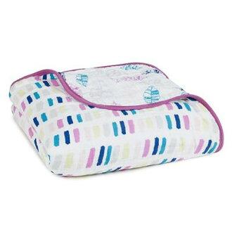 【美國 aden+anais】純棉嬰兒棉紗被毯(dream blanket)紫色秋天款 # SKU6045