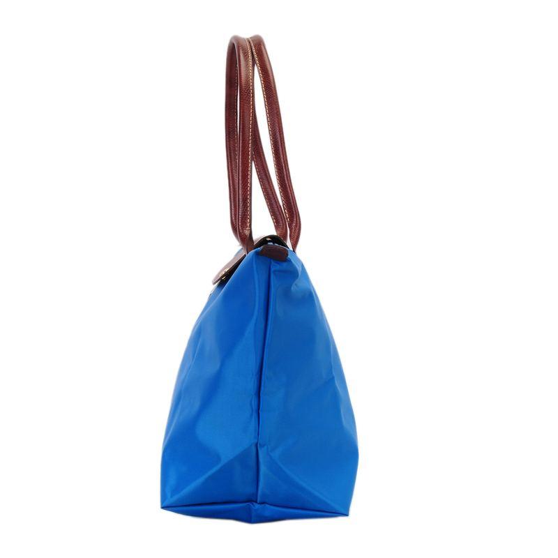 [長柄M號]國外Outlet代購正品 法國巴黎 Longchamp [1899-M號] 長柄 購物袋防水尼龍手提肩背水餃包 佛青藍 2