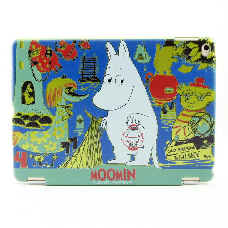 Moomin 嚕嚕米正版授權 -【 期待的旅程(綠) 】:《 iPad / ipad Mini 》水晶殼+Smart Cover(磁桿)