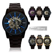Daniel Wang DW-3142-IP 絢麗閃電雙面鏤空指針式全自動機械錶 0