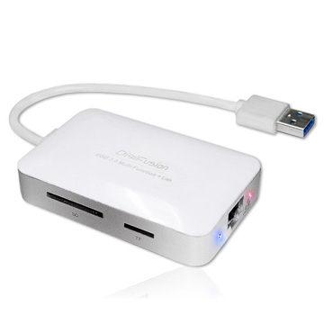 伽利略 DigiFusion AU3HDDL USB 3.0 Giga Lan+讀卡機+Hub