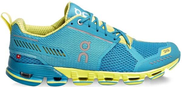 ON 瑞士雲端科技跑鞋/慢跑鞋/路跑/馬拉松/避震跑步鞋 衝刺雲 Cloudflyer 114540 女款 藍/黃