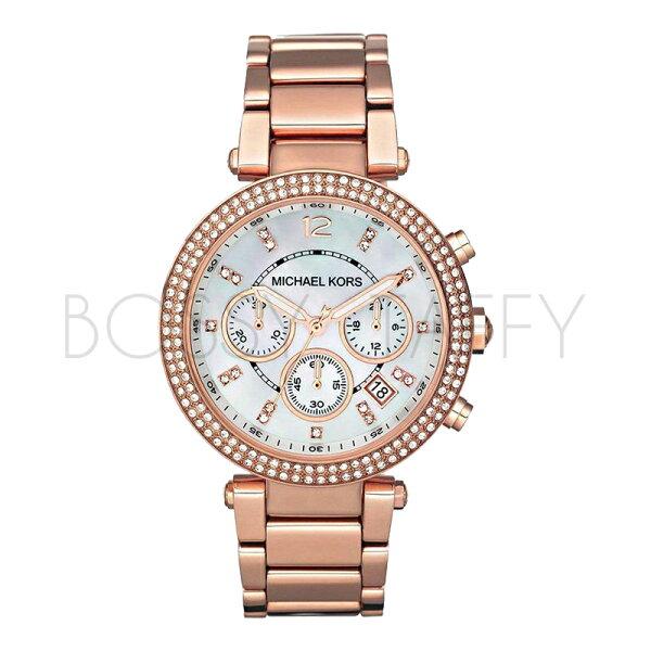 MK5491 MICHAEL KORS 鋼帶玫瑰金錶時尚水鑽石英 女錶