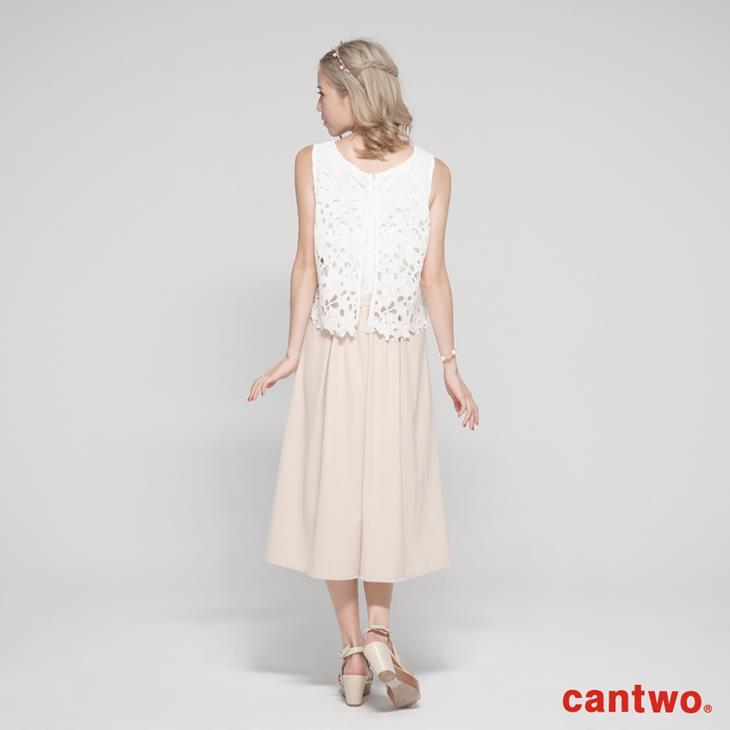 cantwo鏤空蕾絲無袖連身褲(共二色) 3