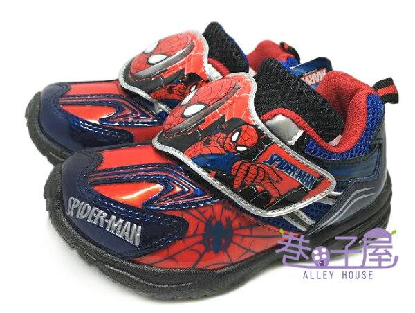 【巷子屋】蜘蛛人 男童電燈造型運動休閒鞋 [49812] 藍紅 MIT台灣製造 超值價$198