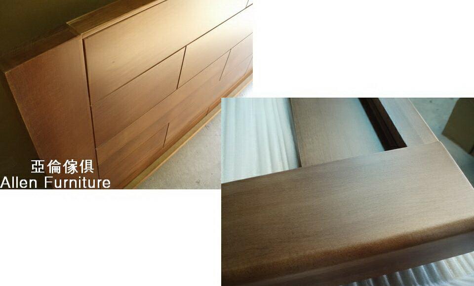 亞倫傢俱*山姆威爾6尺雙人加大南洋檜實木床架 1
