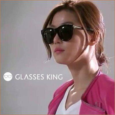 眼鏡王☆現貨!來自星星的你千頌伊全智賢正韓國明星款金屬方框大框墨鏡太陽眼鏡S-107