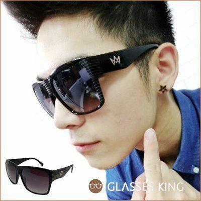 眼鏡王☆現貨皇冠超大框方框粗框墨鏡太陽眼鏡羅志祥GD韓國帥氣黑色灰色S141