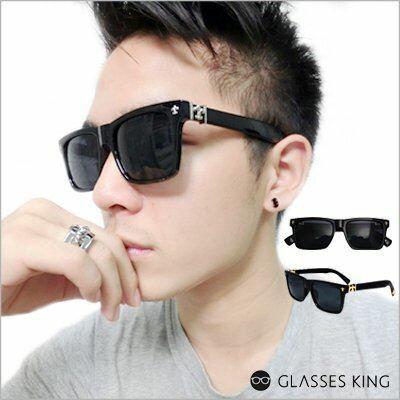 眼鏡王☆流行方框韓國十字架裝飾法蘭西法國大框正妹型男小臉雕花金屬太陽眼鏡墨鏡S189