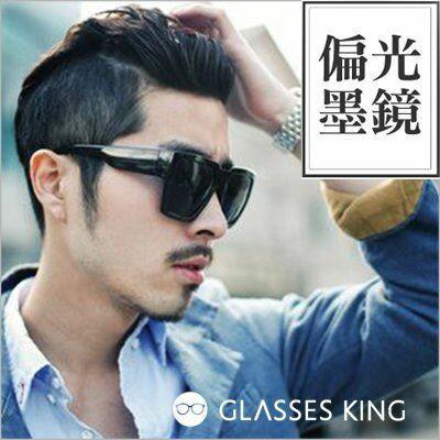 眼鏡王☆偏光墨鏡稜角經典派對韓國復古方框個性粗框太陽眼鏡大框UV400夏日海灘正妹型男黑色P35