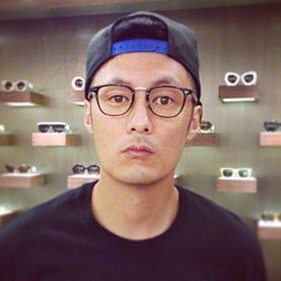 眼鏡王☆韓國歐美潮流型男余文樂文青圓框潮流鏡架金屬鏡框街頭黑色咖啡A86