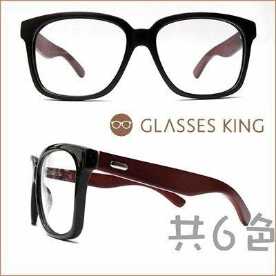 眼鏡王☆熱賣!天然木頭竹子木框專櫃等級鏡框中性大鏡面豹紋黑色咖啡色外銷韓國日本W-5