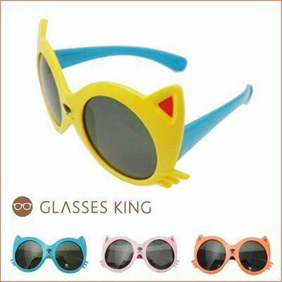 眼鏡王☆現貨偏光!韓國小孩兒童造型超可愛立體貓咪人氣粉紅色綠藍黃橘墨鏡太陽眼鏡K13