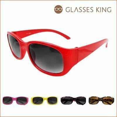 眼鏡王☆現貨!小孩兒童方框素面可愛韓國大框墨鏡太陽眼鏡黑色紅粉紅豹紋黃色K19