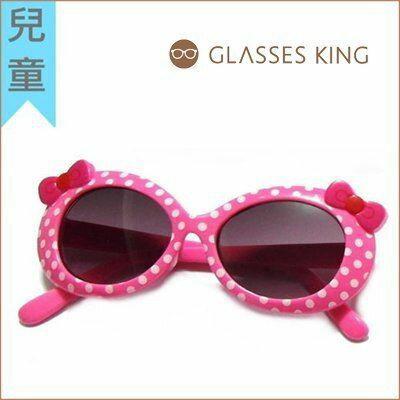 眼鏡王☆現貨!台灣製小孩兒童韓國人氣蝴蝶結圓點水玉點點白藍粉紅色墨鏡太陽眼鏡K11